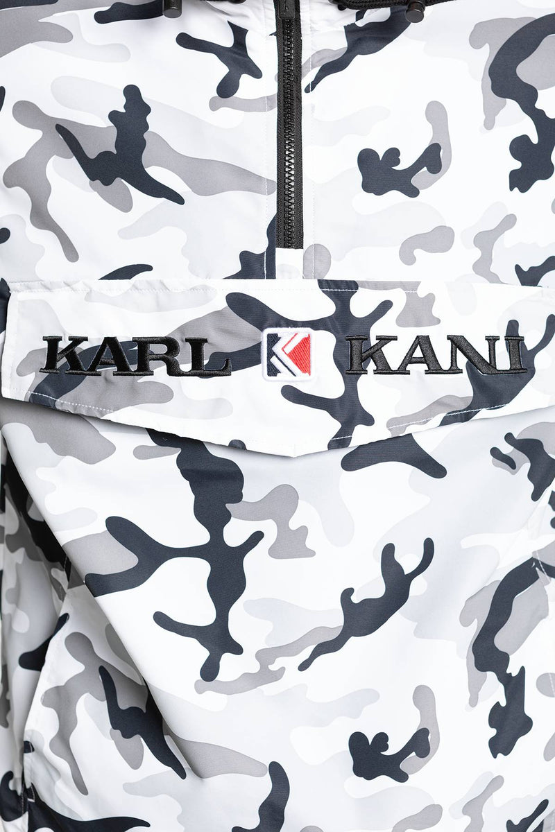 #00009  Karl Kani Jacke KK Retro Camo Windbreaker 942 BLACK / GREY / WHITE