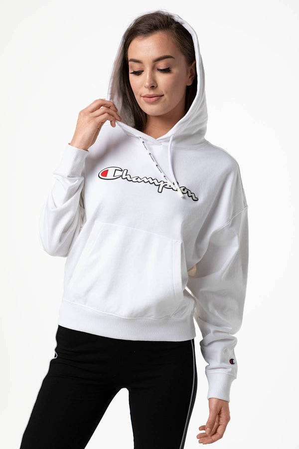 #00041  Champion Bluse HOODED SWEATSHIRT WW001 WHITE