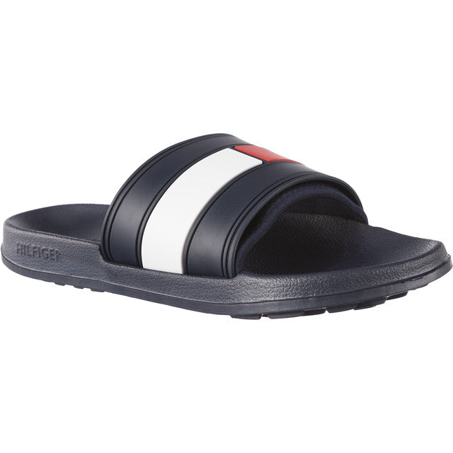 #01909  Tommy Hilfiger Pantoffeln FLAG POOL SLIDE 020 NAVY/RED/WHITE