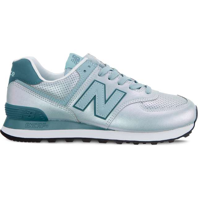 #00125  New Balance Sneakers WL574KSA SHEEN PACK MINERAL SAGE WITH OUTER BANKS