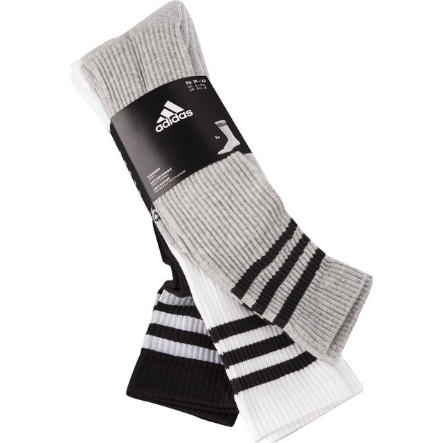#09826  adidas Socken 3-STRIPES KNEE HC 3PP 440 WHITE/BLACK/MEDIUM GREY HEATHER