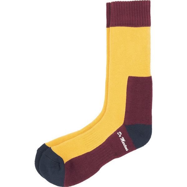 #09945  Dr.Martens Socken Sock Yellow Navy 003