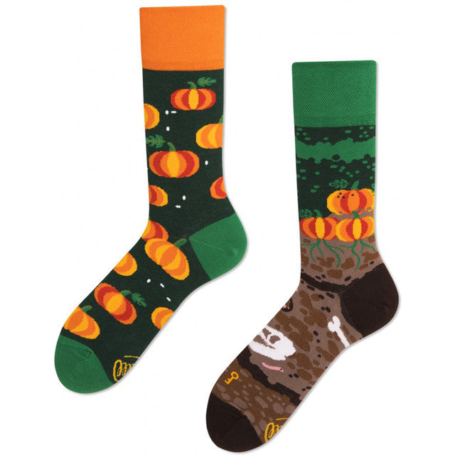 #02073  Many Mornings Socken THE PUMPKINS