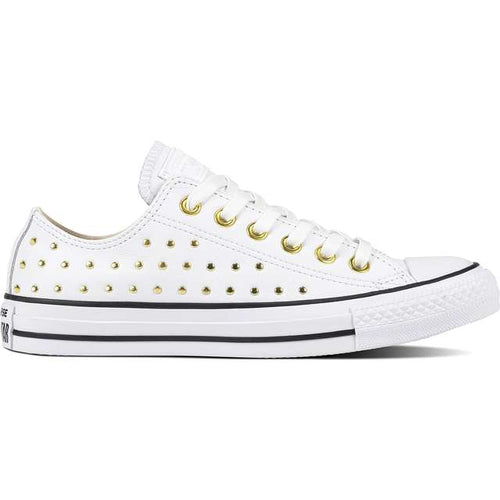 13704 Converse Turnschuhe CHUCK TAYLOR ALL STAR LEATHER WHITE WHITE GOLD 746136812