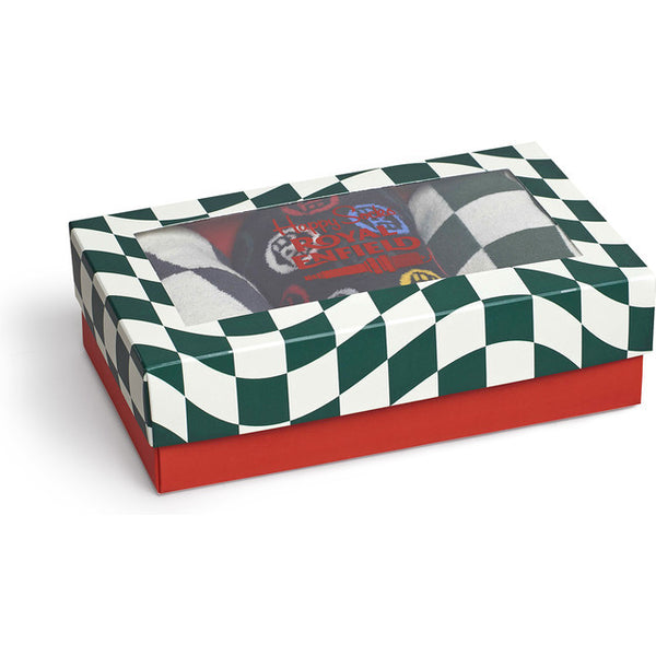 #05406  Happy Socks Sockenset Royal Enfield Socks Box Set XRE08-1000