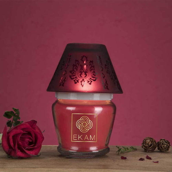 Rose Lampshade Candle