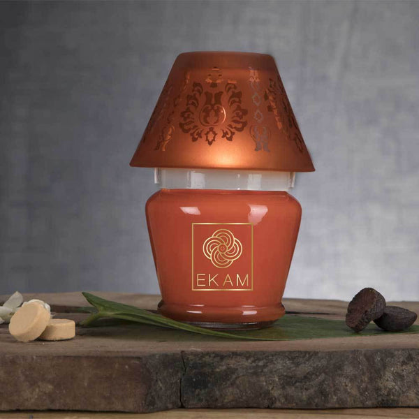 Temple Bloom Lampshade Candle