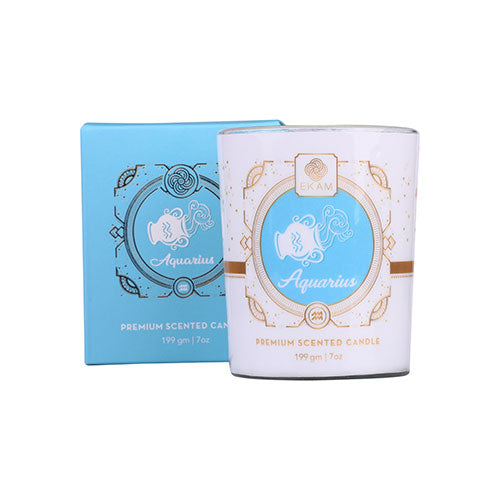 Aquarius Zodiac Scented Candle, Lavender & Patchouli<br>(Pick any 2 and get 50% off)