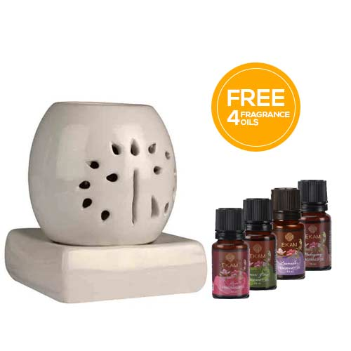 Electric Oil Warmer with Free 4 Pack Fragrance Oil