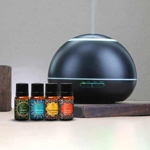Dynamic Aroma Diffuser with 4 Mandala Series Fragrance Oils (GX-17K B)