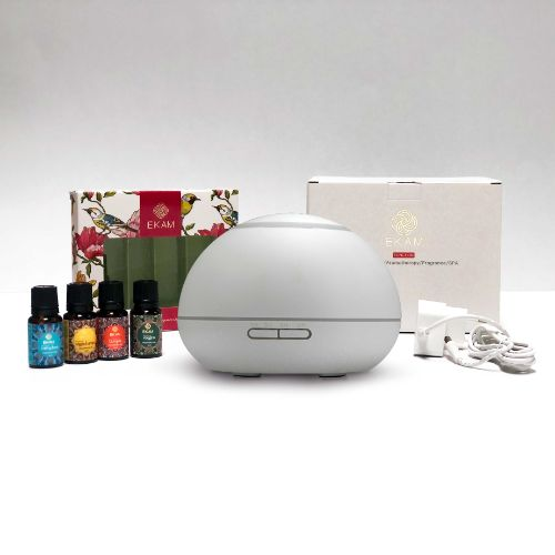 Dynamic Aroma Diffuser with 4 Mandala Series Fragrance Oils (GX-17K W)