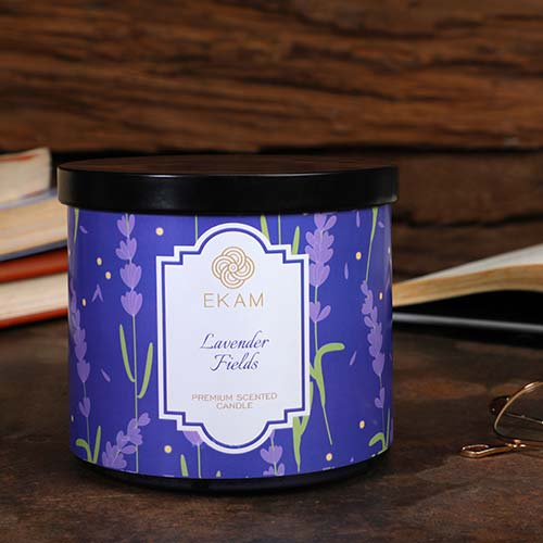 Lavender Fields 3 Wick Jar Candle<br>(Pick any 2 & get 50% off)