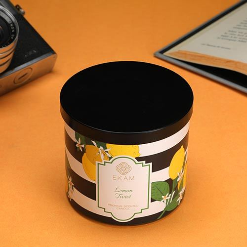 Lemon Twist 3 Wick Jar Candle<br>(Pick any 2 & get 50% off)