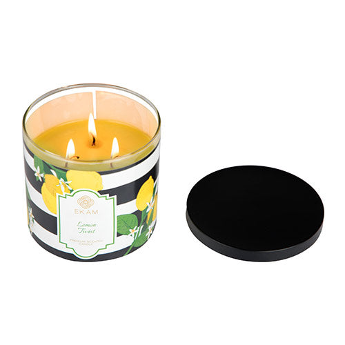 Lemon Twist 3 Wick Jar Candle