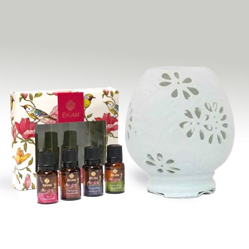 Premium Electric Oil Warmer With Free 4 Pack Fragrance Oil