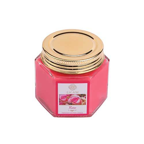 Rose Hexa Jar Scented Candle<br>(Pick any 6 & get 50% off)