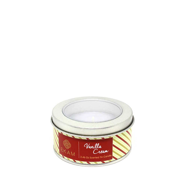 Vanilla Cream Tin Scented Candle - 70gms