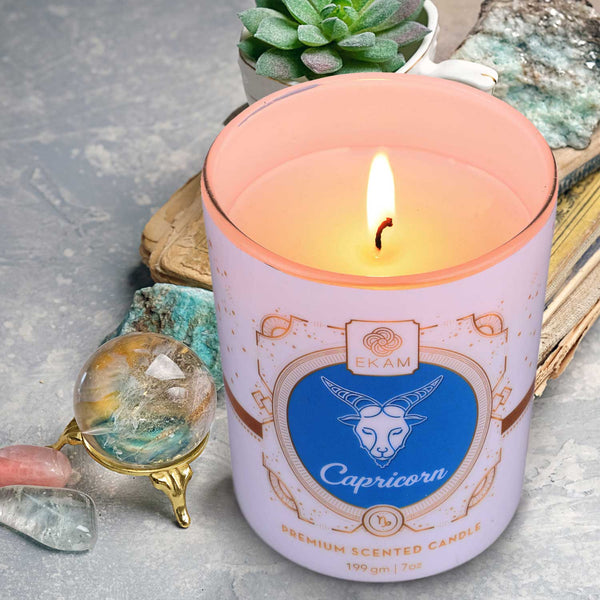 Capricorn Zodiac Scented Candle, Tulip & Lilac<br>(Pick any 2 and get 50% off)