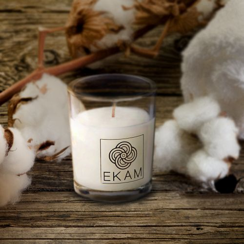 Fresh Cotton Shot Glass Candle