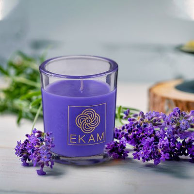 Lavender Shot Glass Scented Candle<br>(Pick Any 12 & Get 50% Off)