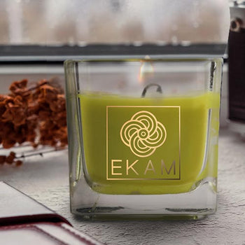 Lemongrass Square Cup Scented Candle(Pick Any 12 & Get 50% Off)