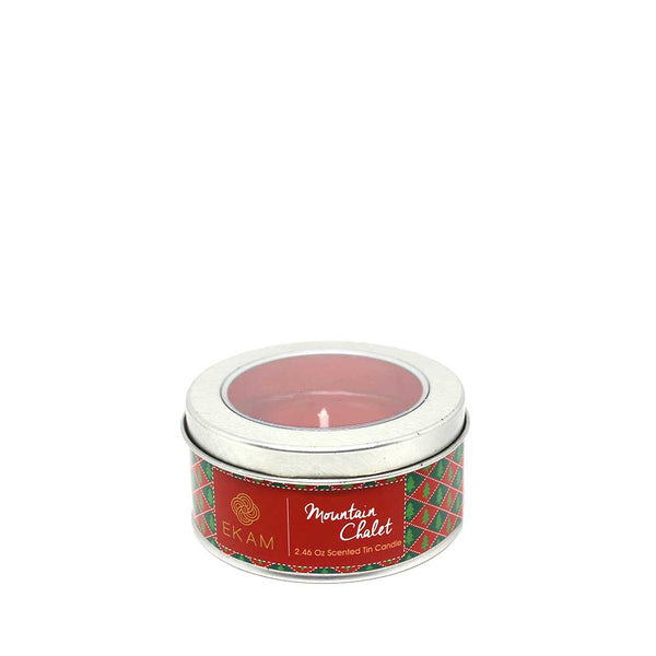 Mountain Chalet Tin Scented Candle, 70gms
