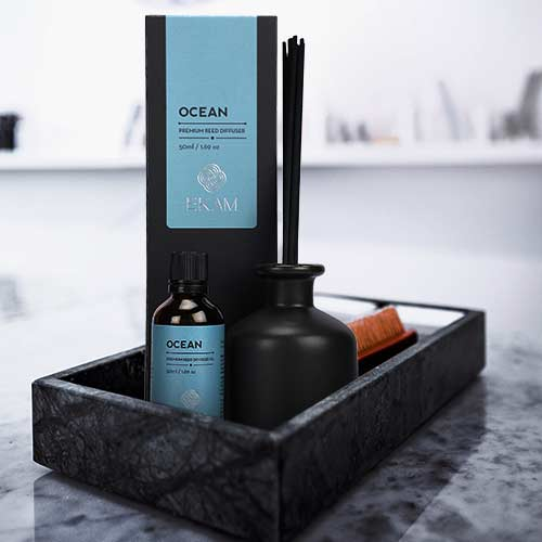 Ocean Premium Reed Diffuser Set, Manly Indulgence Series