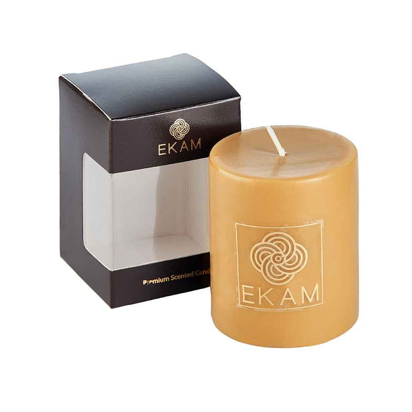 Divine Sandalwood Scented Pillar Candle