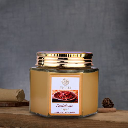 Sandalwood Hexa Jar Scented Candle<br>(Pick any 6 & get 50% off)