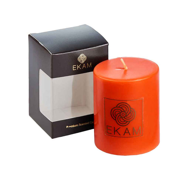 Temple Bloom Scented Pillar Candle