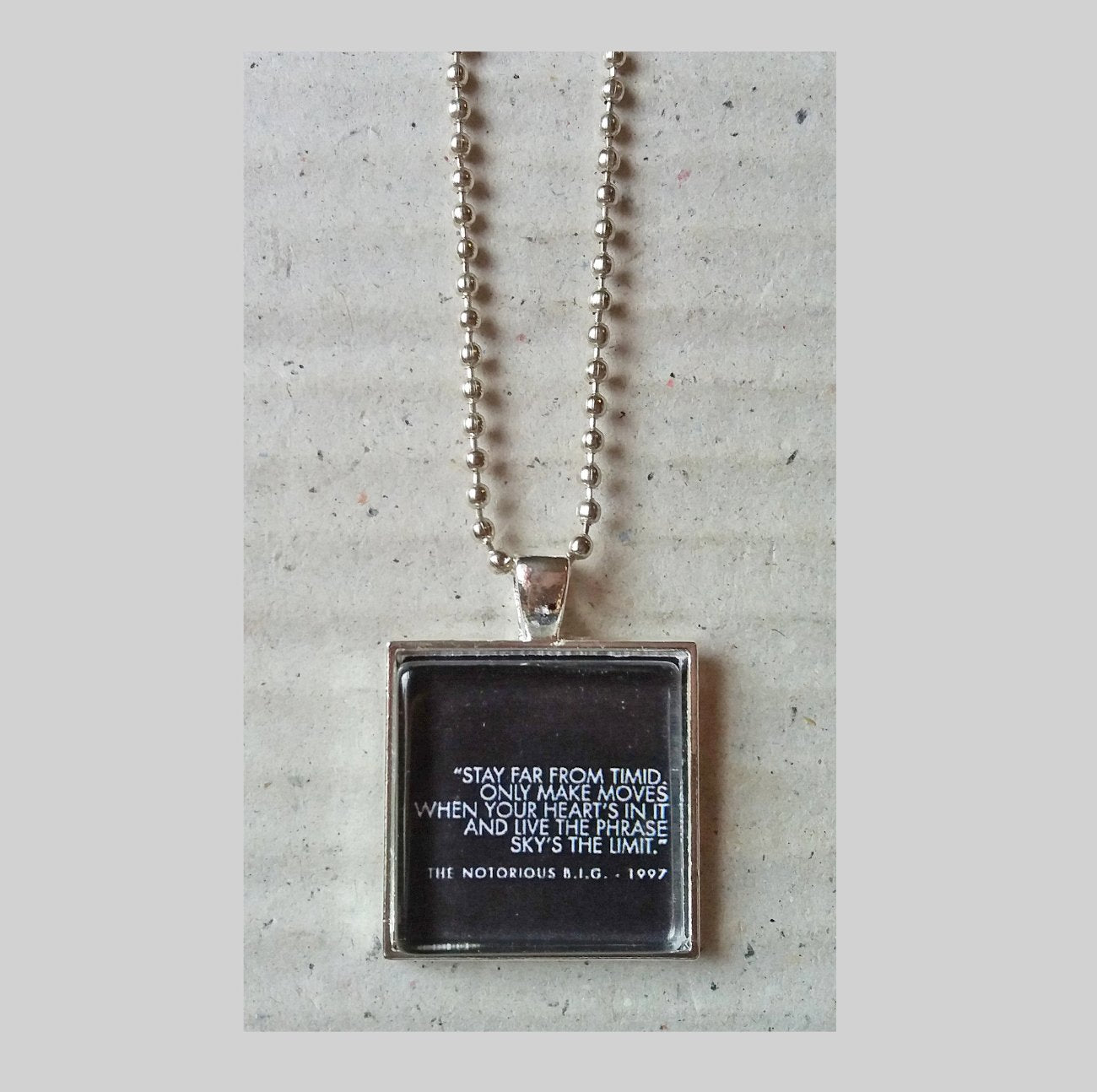Shop Now Notorious Big Quote Pendant Necklace By Maggychains Maggy