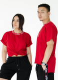 TEE - WHITE/RED