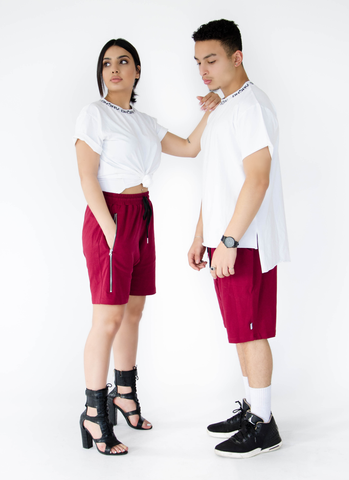 HAREM SHORTS - BURGUNDY