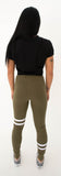 WOMEN'S LEGGINGS - KHAKI