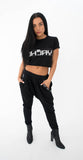 WOMEN'S HAREM PANTS - BLACK