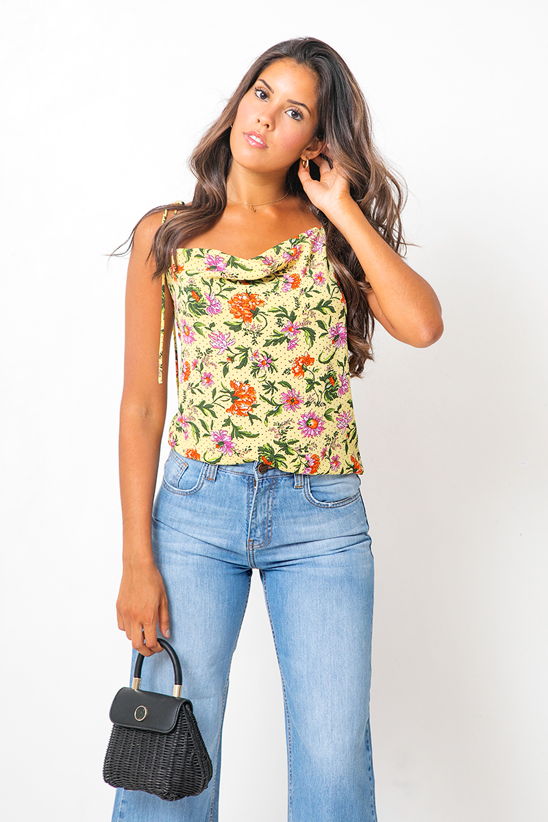 Blusa Paris Peonies Narciso