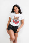Remera Albertina Tiger Savage Nature Blanc