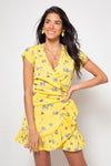 Vestido Amanda Mini Bouquet Yellow
