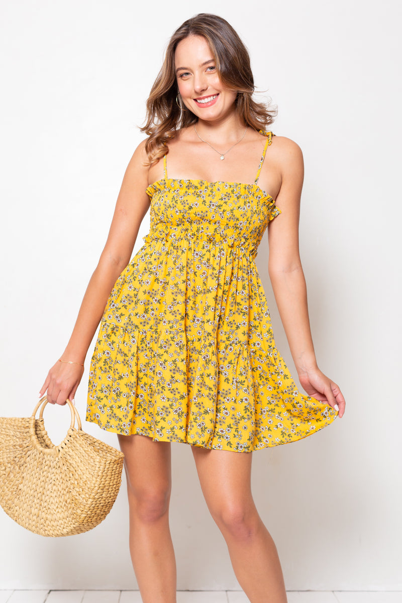 Vestido Constanza Mini Tiny Yellow