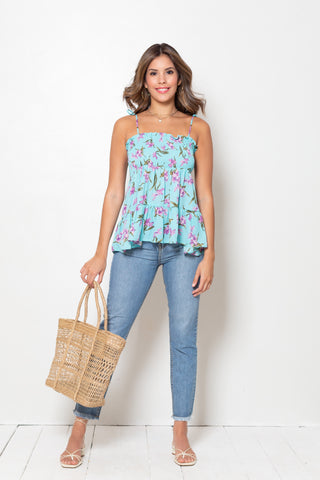 Blusa Ingrid Bouquet Navy