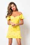Vestido Sofia Mini Rose Yellow
