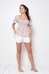 Blusa Brenda Long Sweet Rose