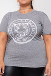 Remera Long Tiger Crown Nature Grey