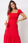 Vestido Bambi Midi Strawberry