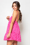 Vestido Aurora Mini Pebble Pink