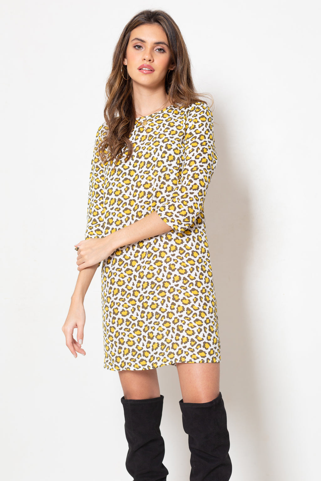 Vestido Anne Yellow Cheetah