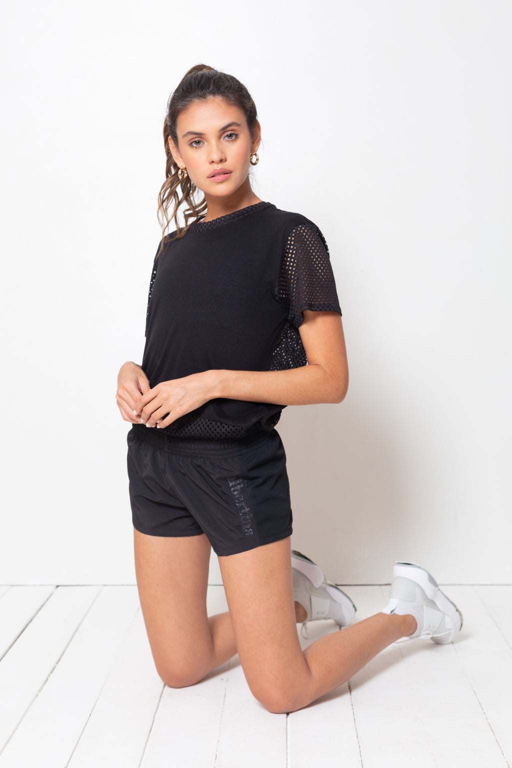Short Alex Glitter Noir