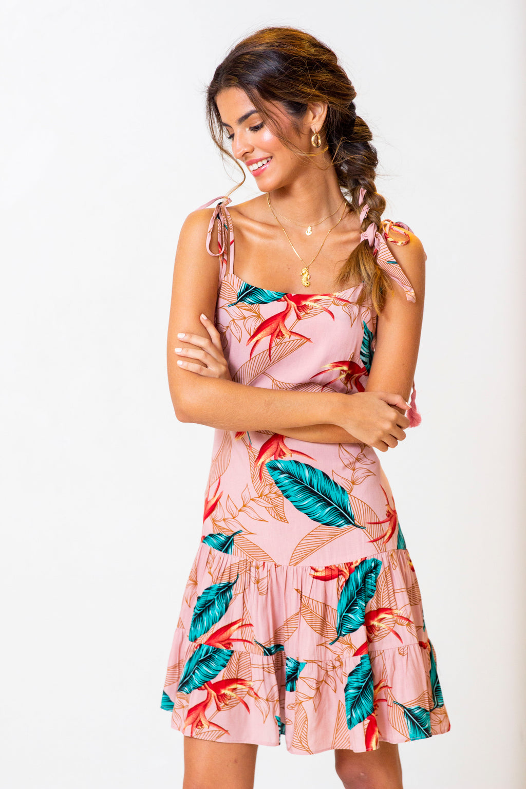 Vestido Lauren Mini Jungle Rose