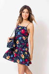 Vestido Annette Mini Nelumbo Navy