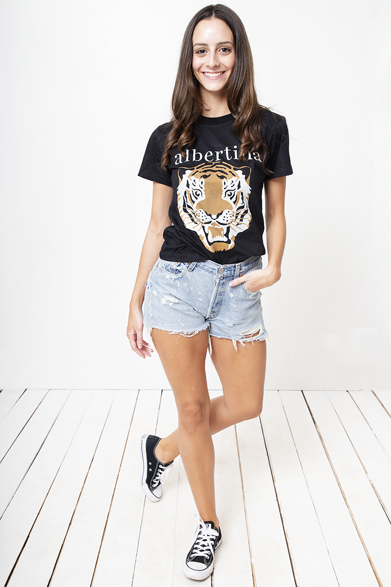 Remera Albertina Tiger Noir